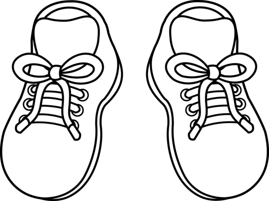 graphic royalty free stock Pair of childrens free. Kids shoes clipart