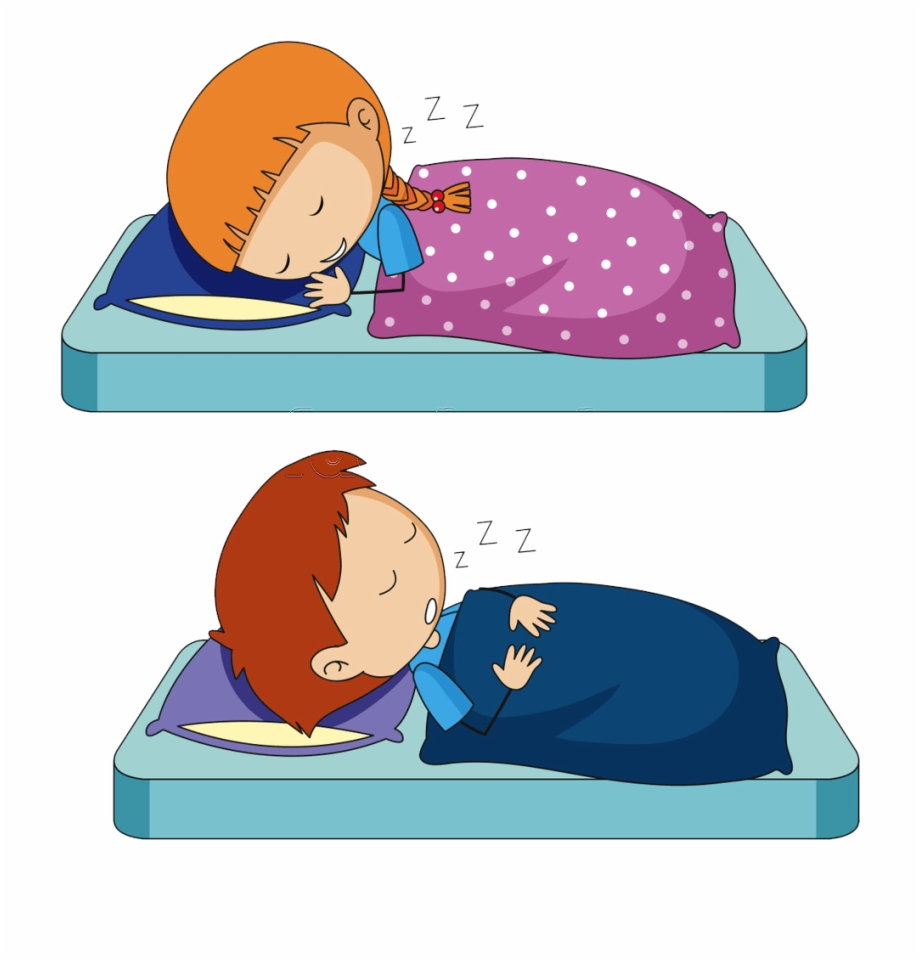 vector freeuse Kids sleeping clipart. Bed time routine sleep