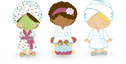 clip black and white Ana pe anapaola on. Kids spa clipart