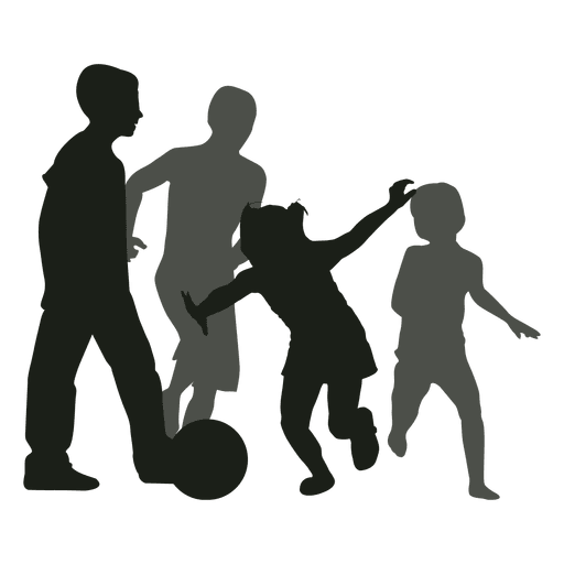 graphic black and white library Kids svg. Chasing ball silhouette transparent