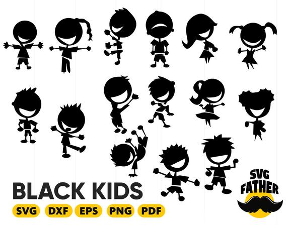 png freeuse library Black african american boy. Kids svg.