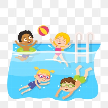 banner free stock Kids swim clipart. Png vector psd and