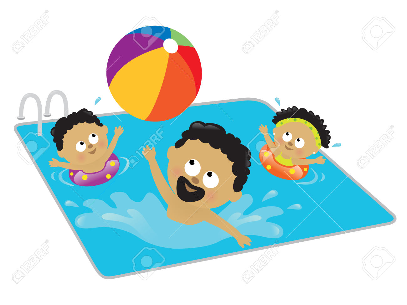 clipart royalty free download Children swimming pictures free. Kids swim clipart