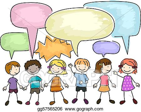 clipart free download Stock illustrations gg . Kids talking to each other clipart