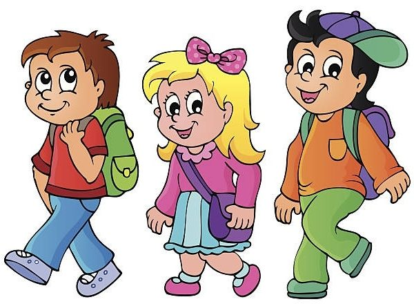 jpg royalty free library Kids walking clipart. Station