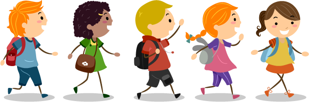 graphic free stock Images of children clip. Kids walking feet clipart