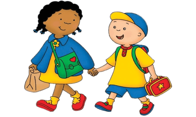 graphic library download Walking on the sidewalk clipart. Caillou and clementine to.