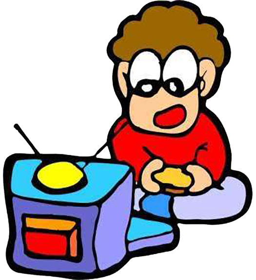 picture royalty free library Kids watching tv clipart. Child television clip art