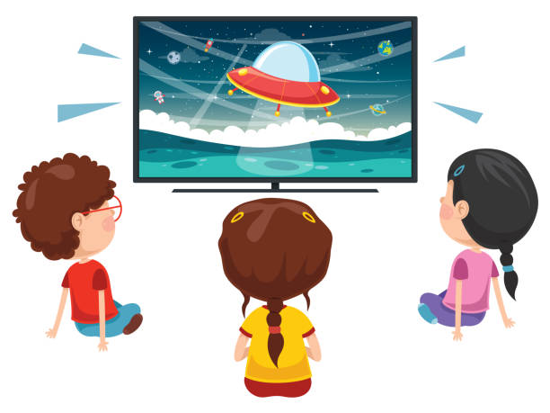 graphic transparent library Kids watching tv clipart. Station