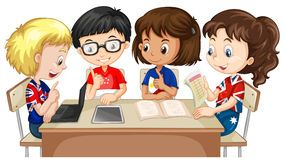 jpg freeuse library Portal . Kids working in groups clipart