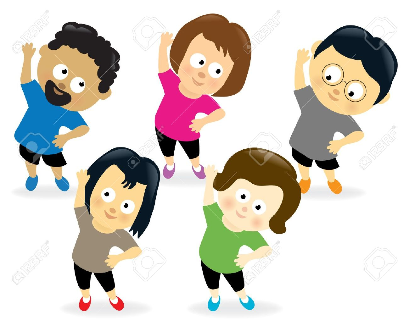 black and white download Exercising free download best. Kids working out clipart