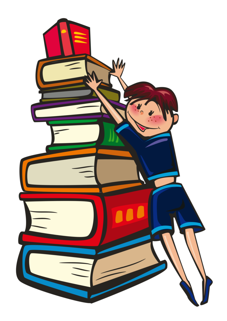 royalty free library Book errortape me. Kids working together clipart.