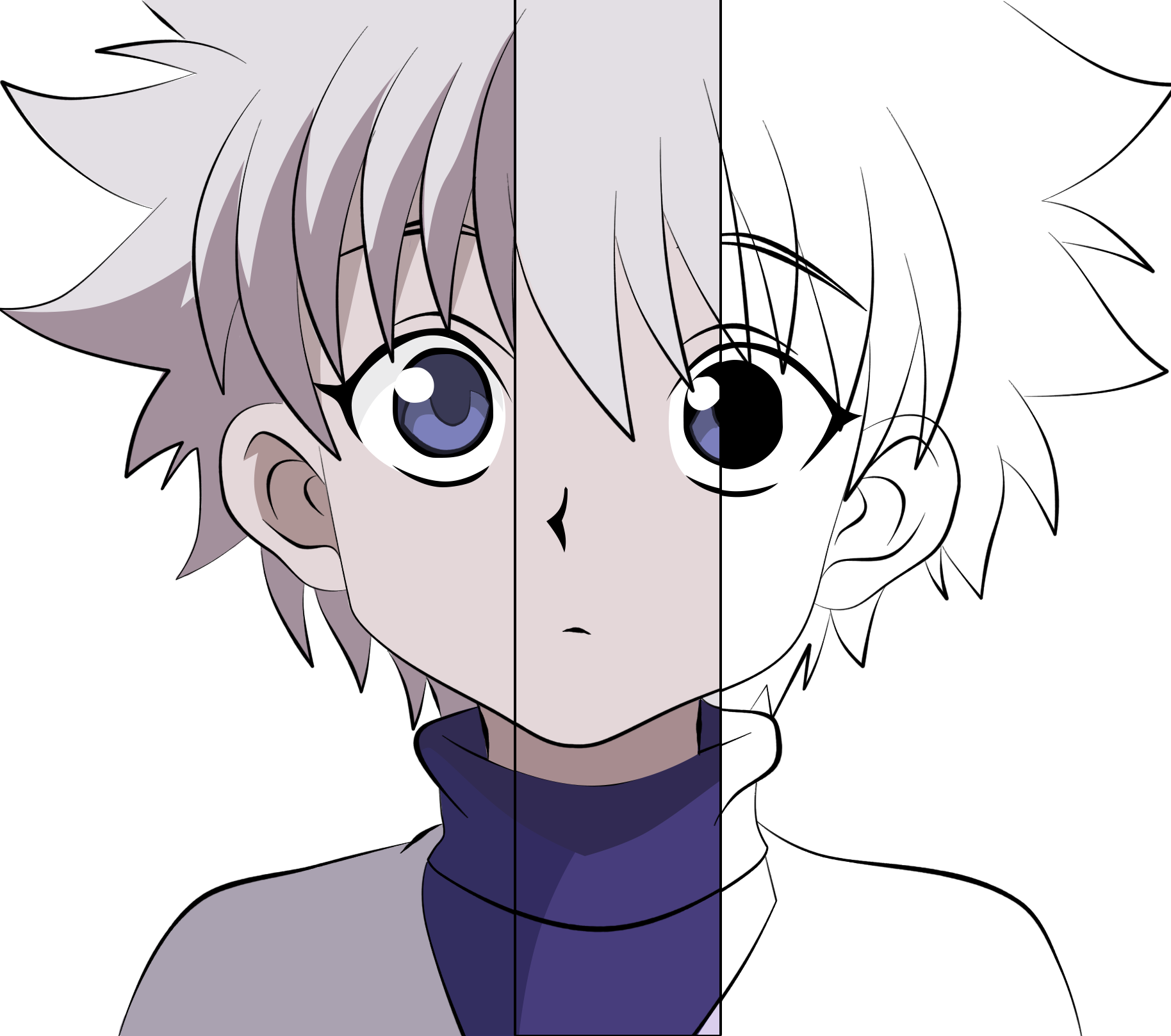 graphic free download Killua drawing. My vector from start