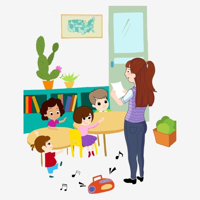 image Kindergarten teacher clipart. Class classroom student .