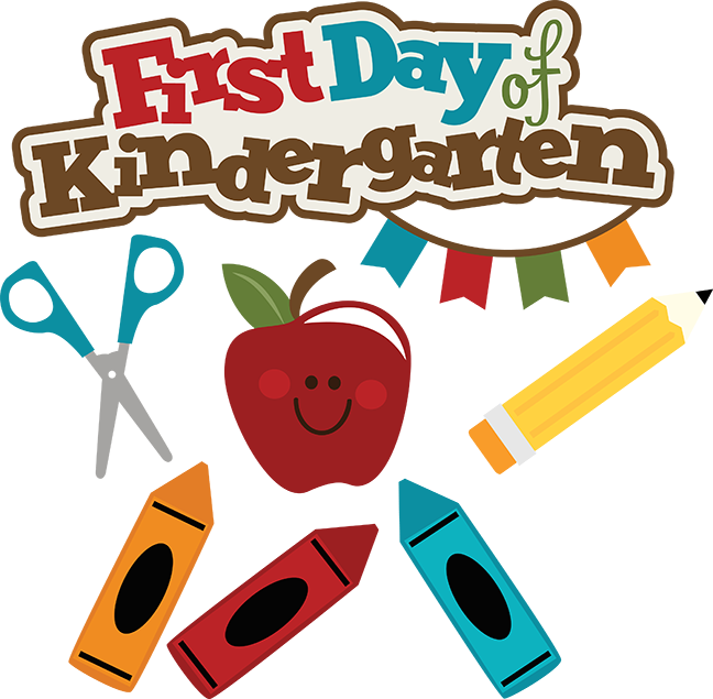 vector download First day of . Kindergarten clipart.