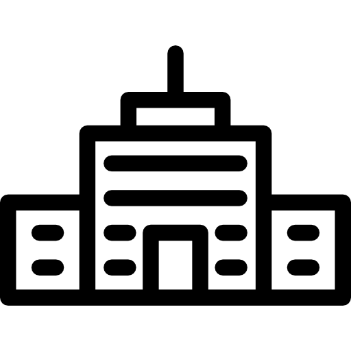 picture transparent College high school buildings. Kindergarten clipart black and white