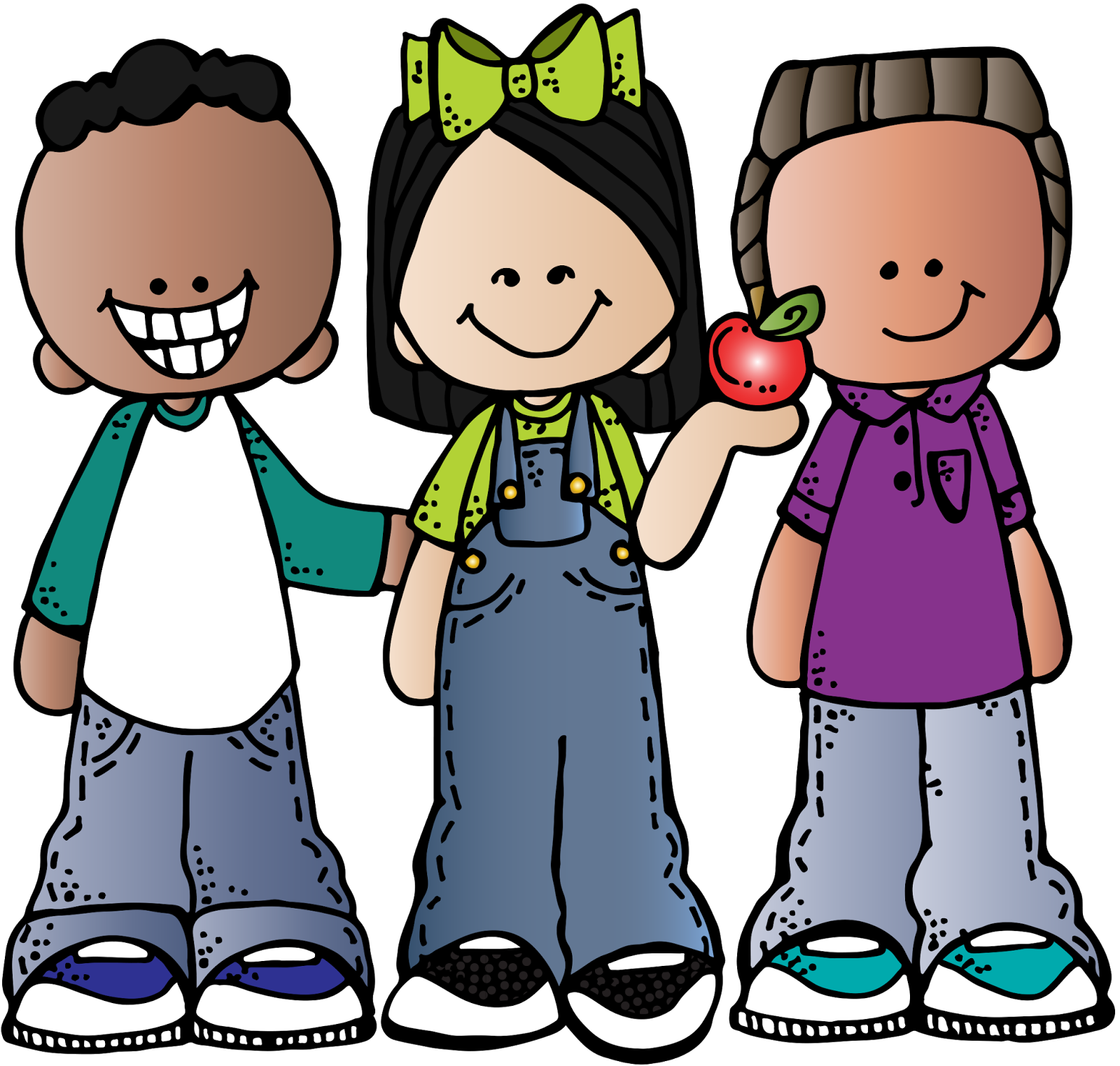 jpg black and white Kids being nice clipart. When i grow up