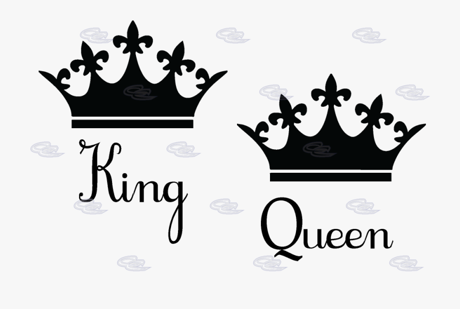 png freeuse download King and queen crowns clipart. Crown silhouette at getdrawings