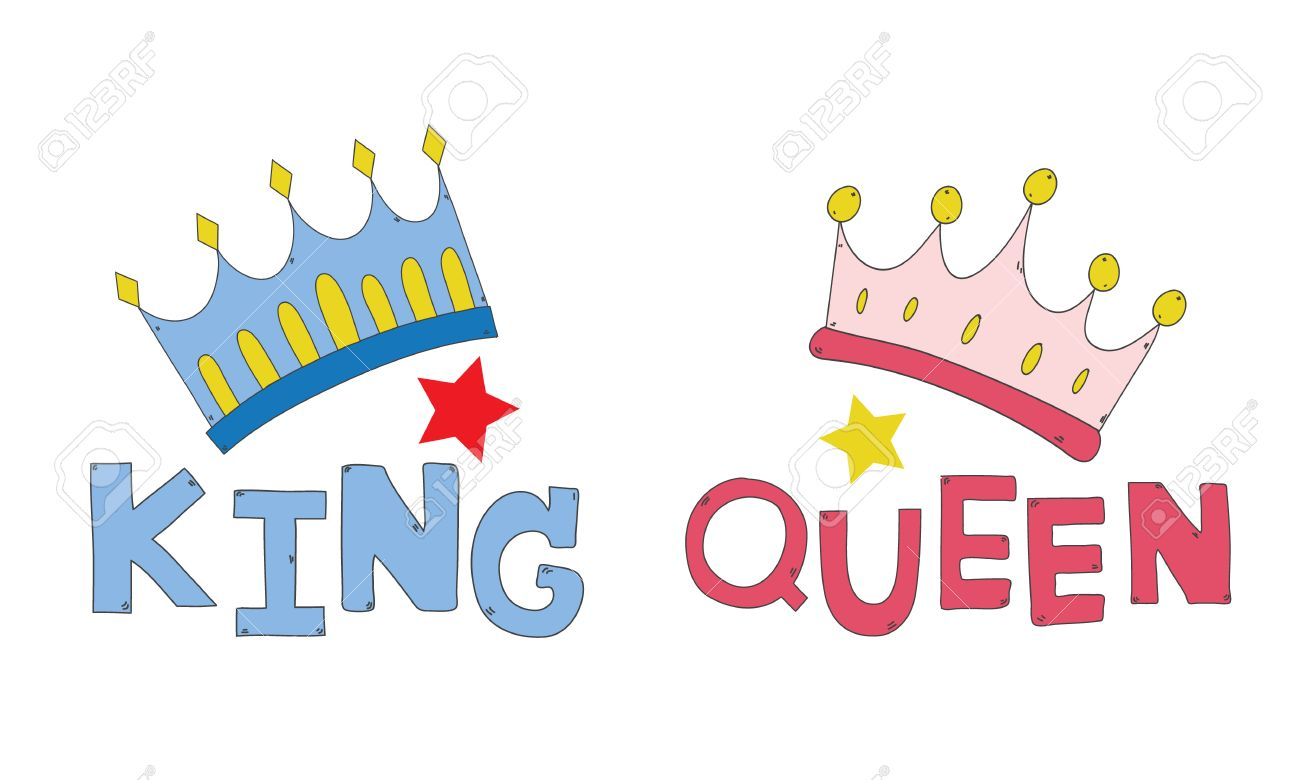 freeuse stock King and queen crowns clipart. Station
