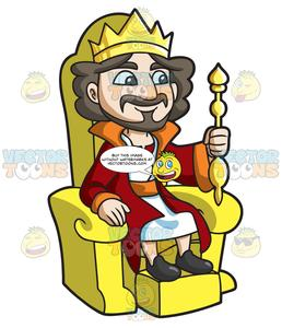 graphic download A sitting his . King on throne clipart