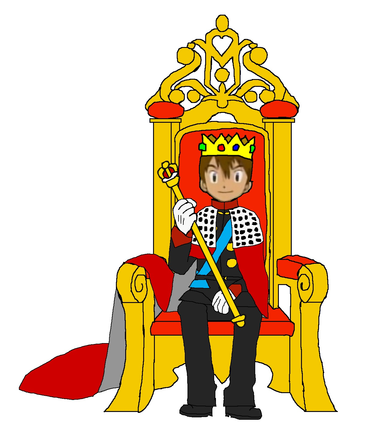 jpg freeuse Clip art library . King on throne clipart