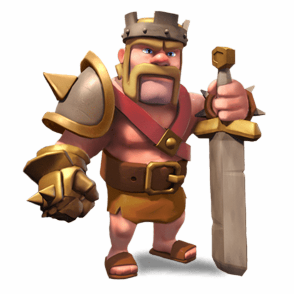 clip art free library Clash of clans barbarian. King transparent