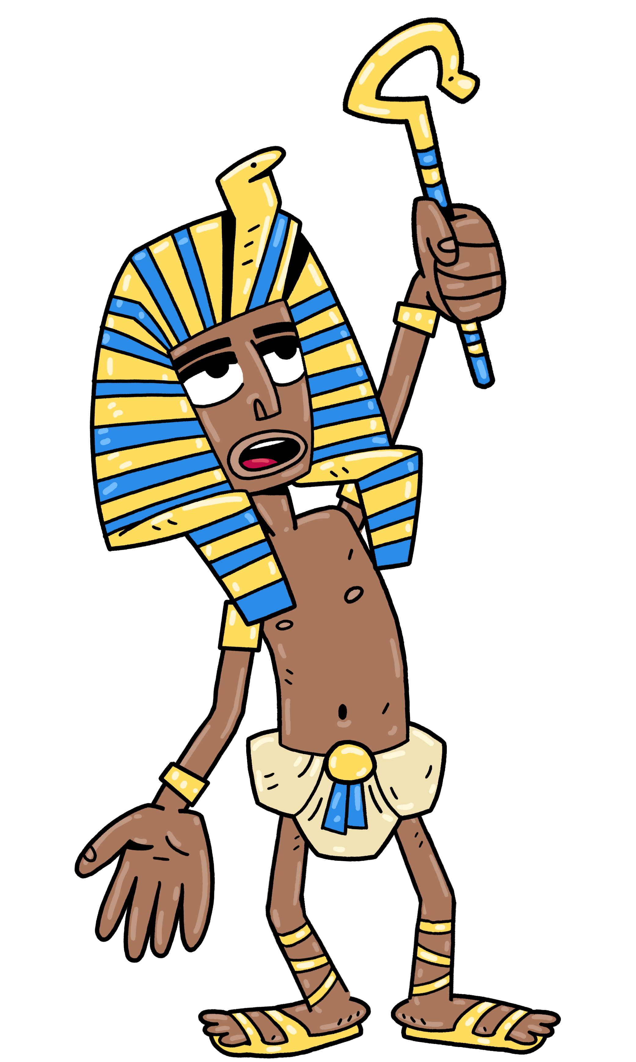 picture black and white stock Meet the new earthlings. King tut clipart