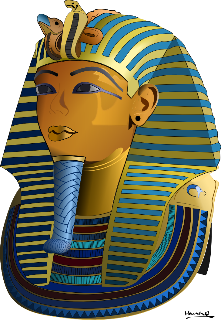 picture royalty free library King tut clipart. The burial mask of