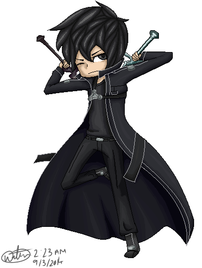 image black and white stock kirito transparent clear #114002982