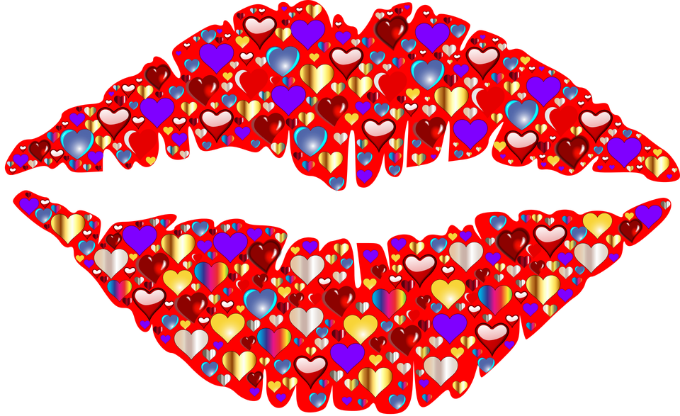 png free library Lip clipart pop art. Kissing colorful free on.
