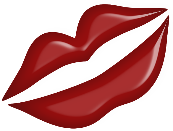 clip art free library Lip clipart valentines. Image of kissy lips.