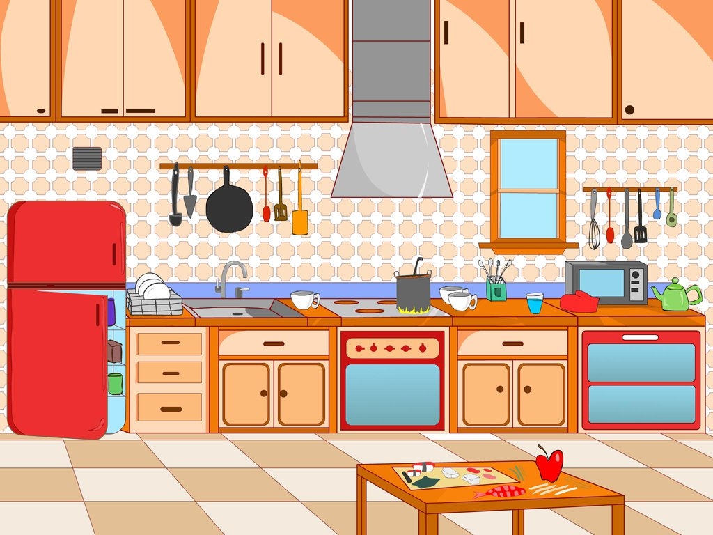 png transparent stock Scene pencil and in. Kitchen clipart.