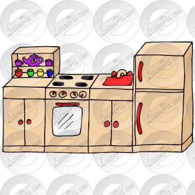 clip royalty free Kitchen play clipart. Picture for classroom therapy