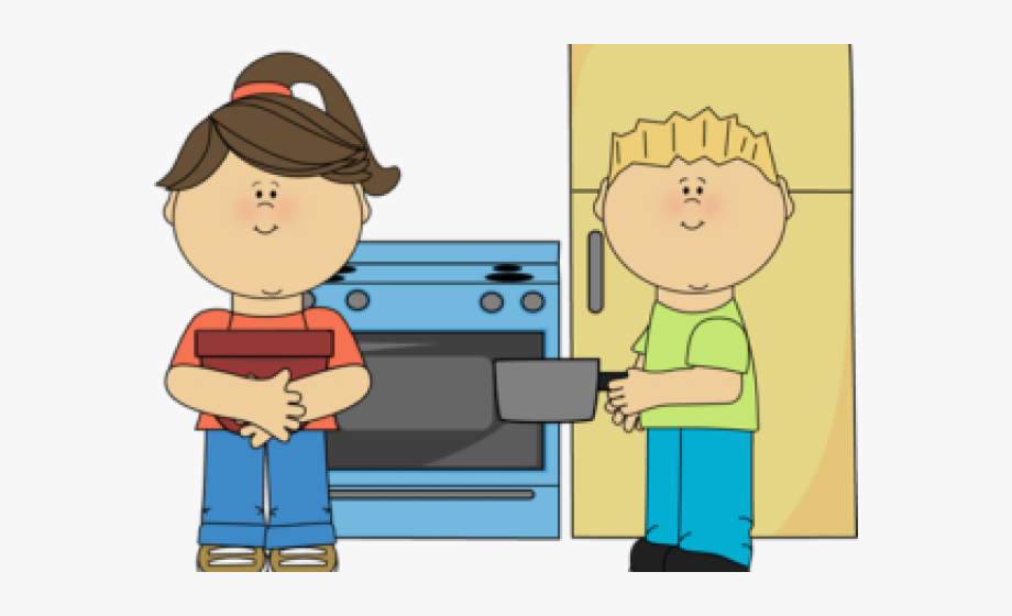 graphic library stock The cooking dramatic center. Kitchen play clipart