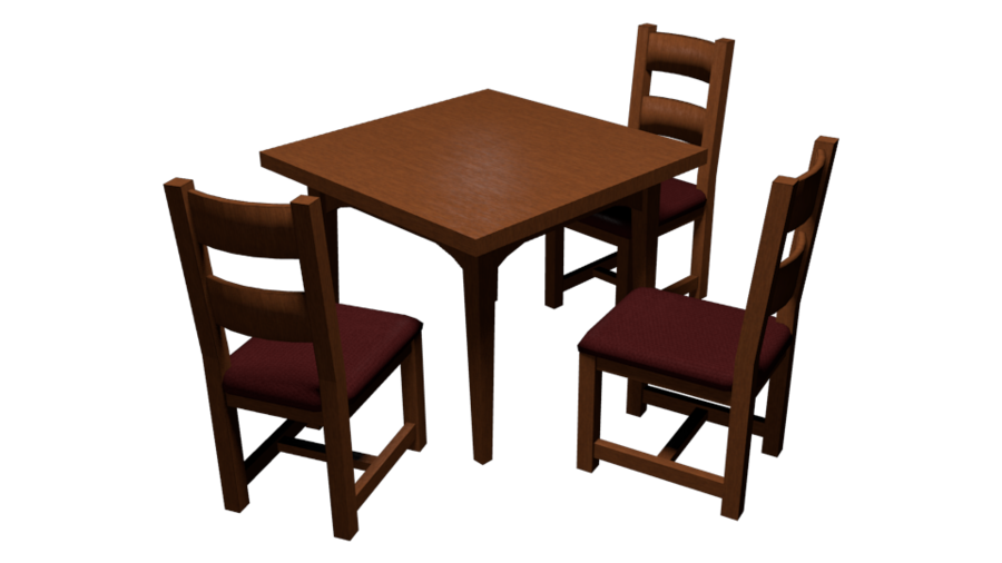 clipart transparent Cartoon Dining Table And Chairs