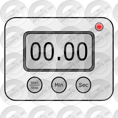 graphic transparent Digital picture for classroom. Kitchen timer clipart