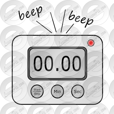 graphic transparent Kitchen timer clipart. Digital picture for classroom
