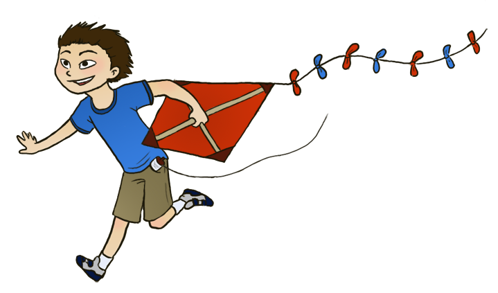 image free Kite flying clipart. Daily doodle day.
