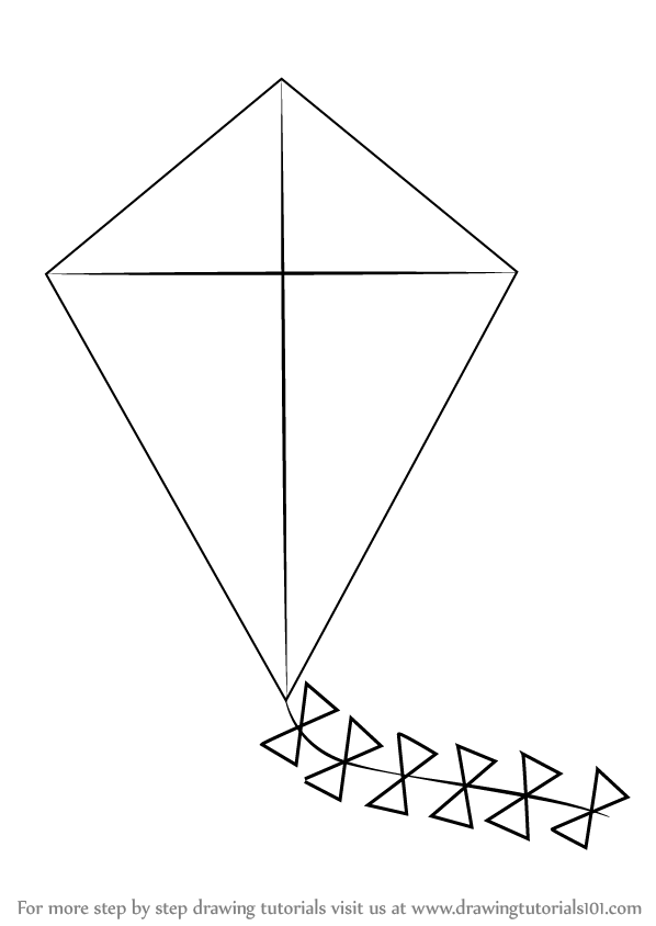 vector download Kites drawing. Learn how to draw