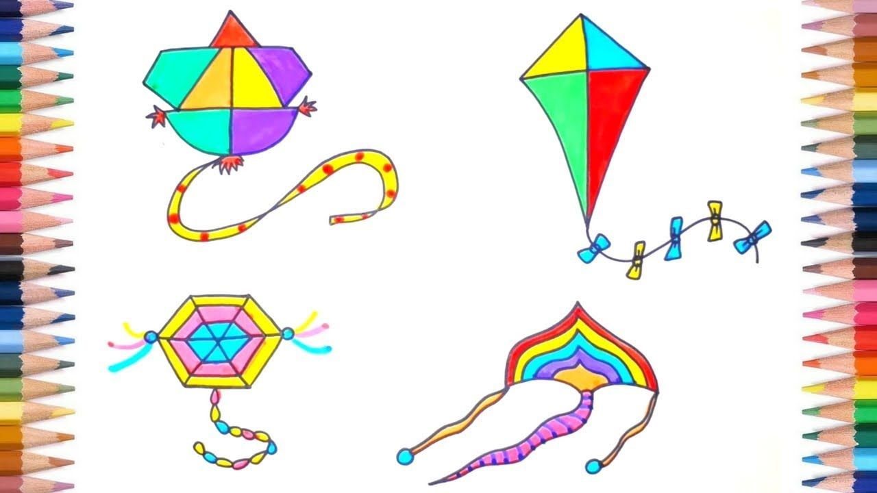 picture freeuse stock How to draw kite. Kites drawing