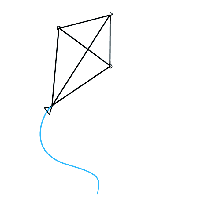 vector library Kites drawing. How to draw a