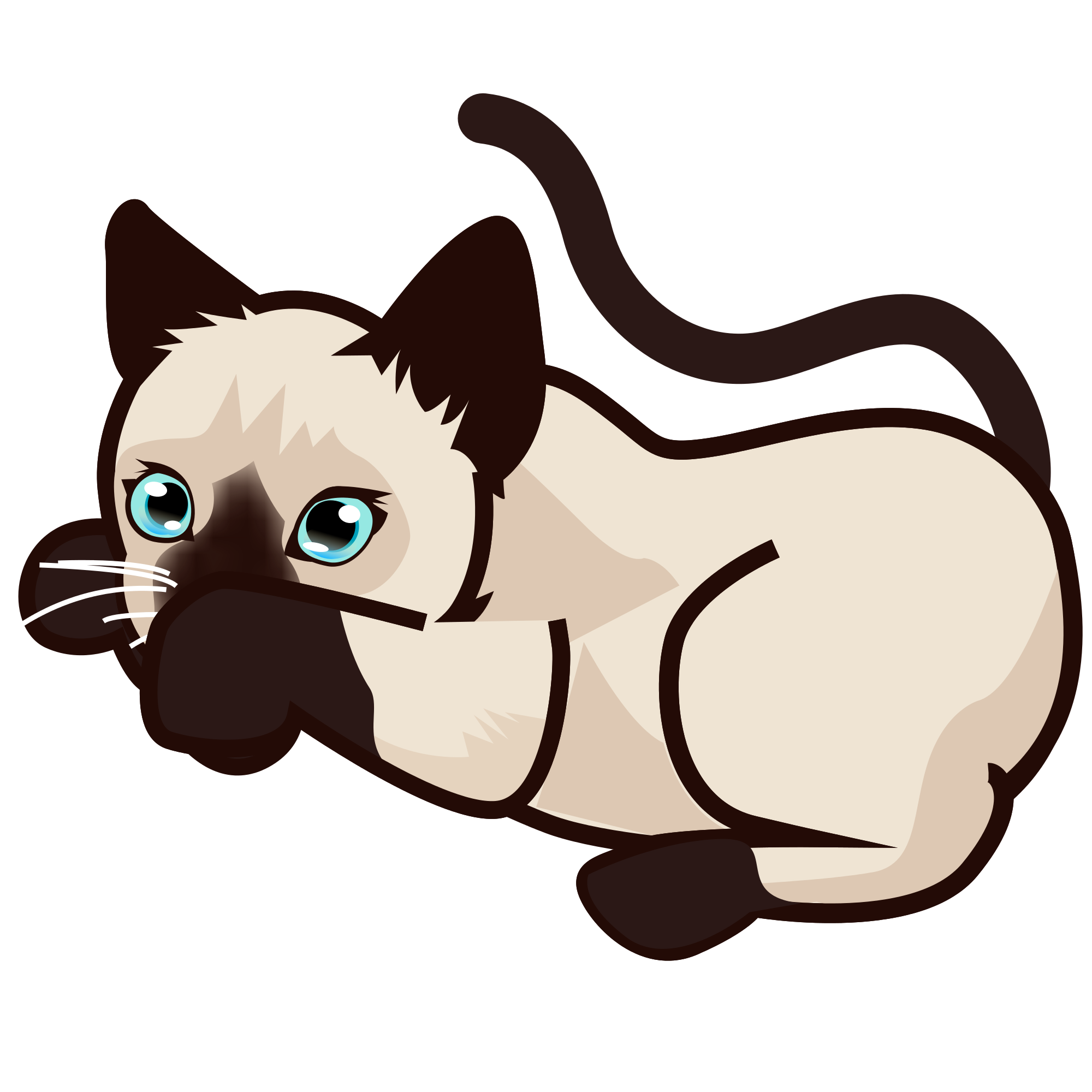 svg black and white download Clipart Of Siamese Cats