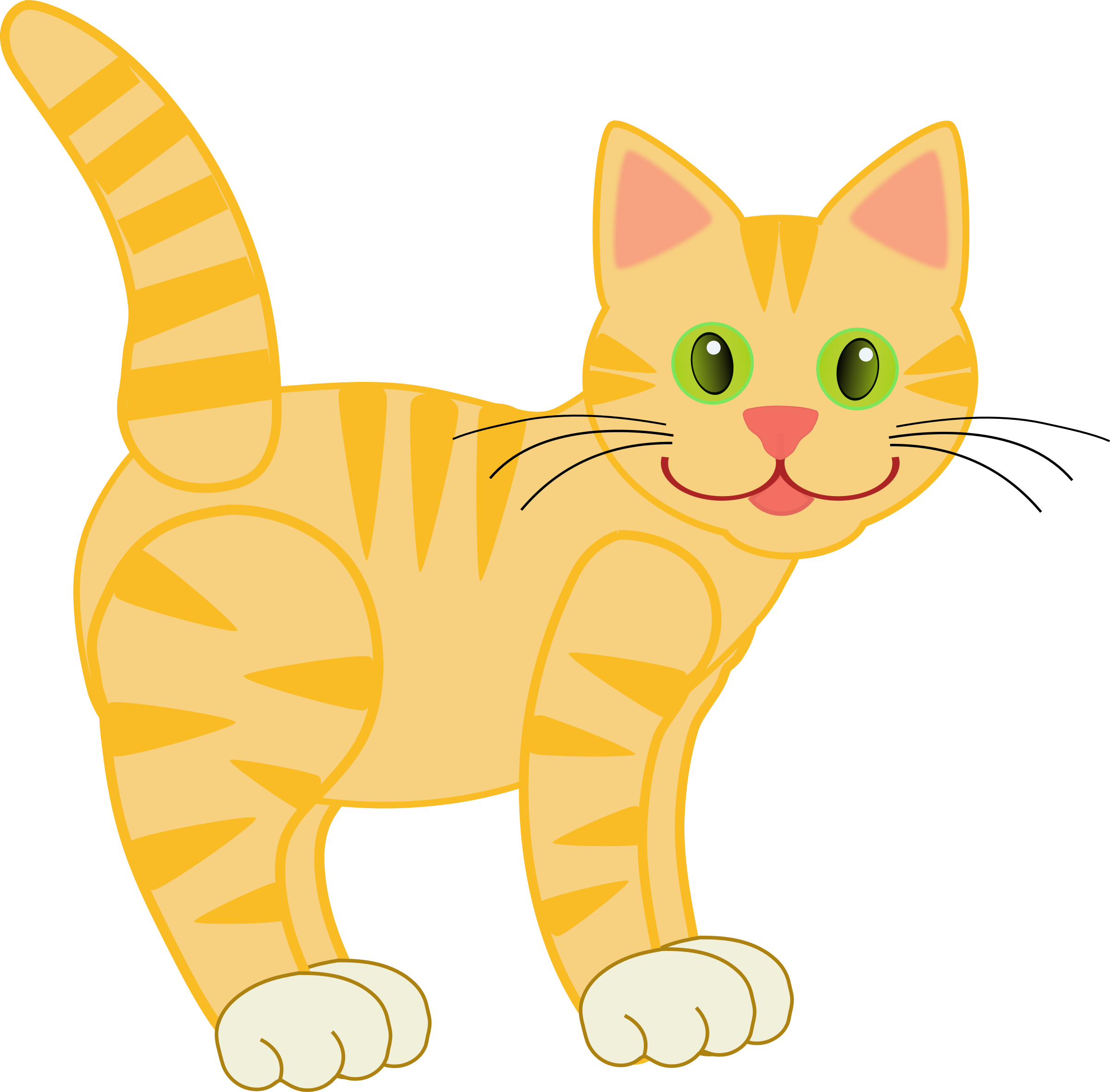 picture library stock Version yellow tiger id. Kitty clipart ginger cat.