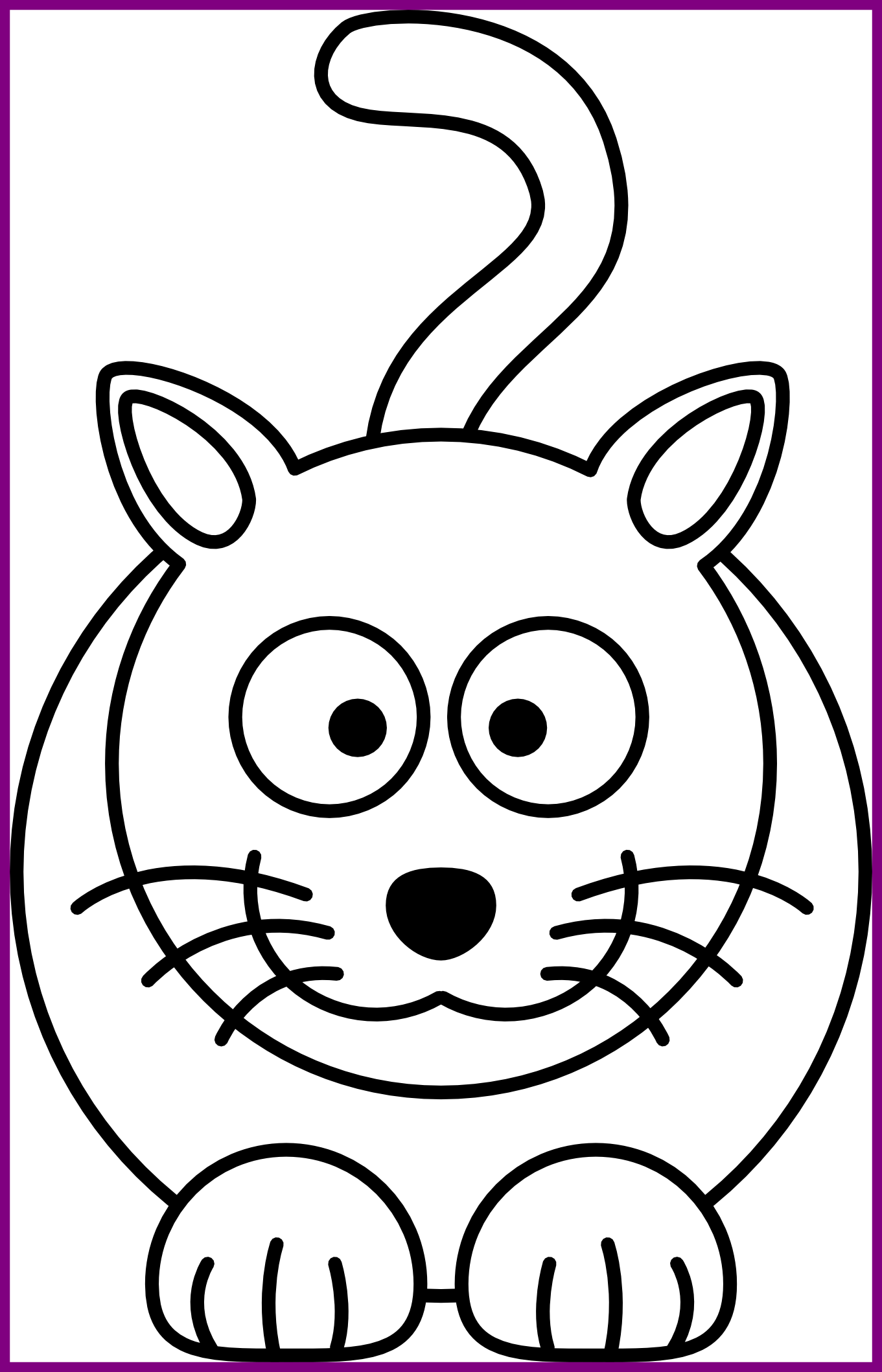 jpg royalty free stock Best Cat Face Clipart Black And White Pic Of Kitten Drawing Concept