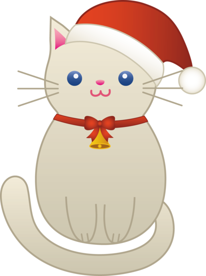 svg royalty free library Christmas Kitty Cat