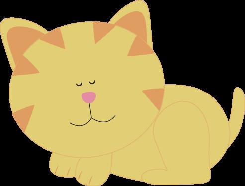 png free stock Sleeping Kitten Clip Art