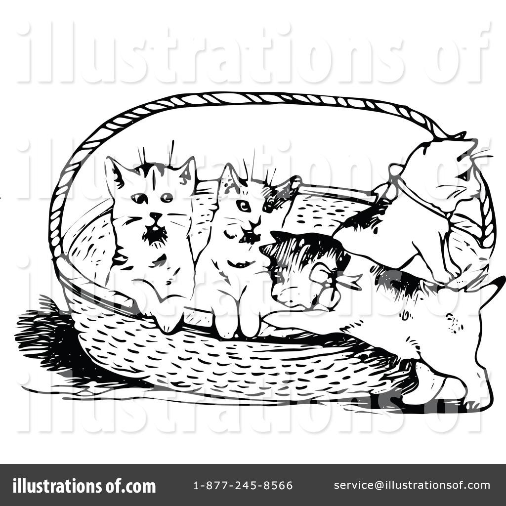 clipart transparent By prawny vintage . Kittens clipart illustration.