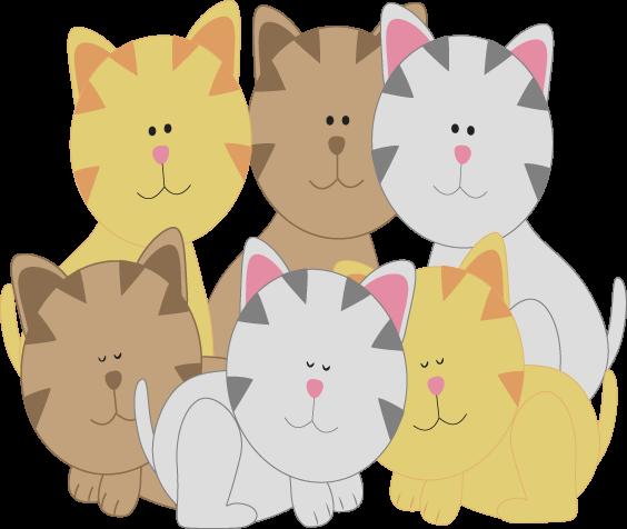 vector Kittens clipart illustration. Of clipartmonk free clip.