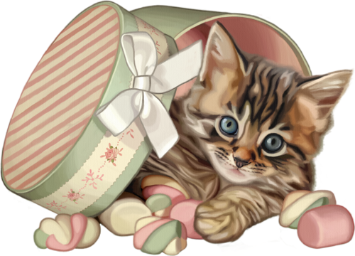 jpg Kittens clipart whimsical cat. Dogs and cats liveinternet.