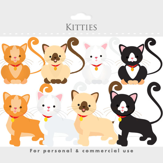 clipart black and white download Kittens clipart whimsical cat. Kitties kittycats white brown.